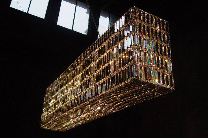 Glitterbox chandelier